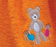 Bear Toys Colors Orange | LaC 08 | Bath Towel 70x140